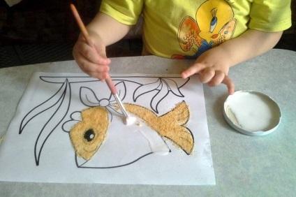 Как сделать цветной песок из манки своими руками 69