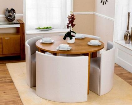 asztalok és székek 33 fényképet modern étkező készletek