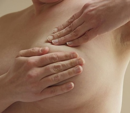 Finding a lump in the breast