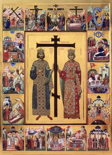 Ima Szent Konstantin császár és anyja királyné Helena