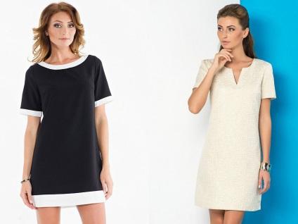 Сшить короткое прямое платье