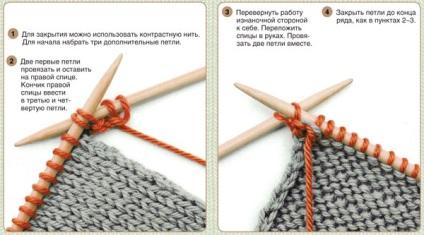 Совет 1: Как закончить вязать шарф спицами