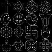 Szimbólumok vallások, vallási, tudományos élet