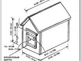 Как своими руками сделать будку для алабая своими руками схема