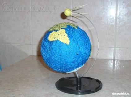 Поделка глобус из макарон 94