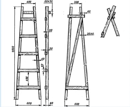 Высокая приставная лестница своими руками 49