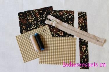 Кошелёк для мелочи своими руками из ткани 11