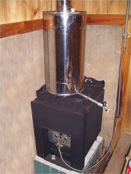 Печь банная газовая своими руками 26