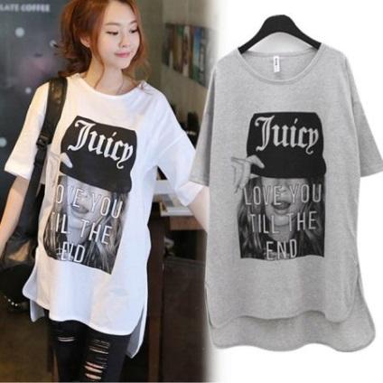 Подовжена жіноча футболка (76 фото) з чим носити довгі футболки 3f60f5342116a