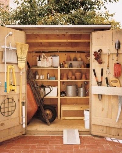 Шкаф для садового инструмента своими руками 95