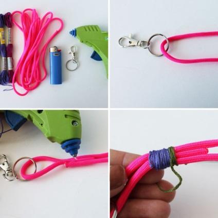 Как сделать нитку для брелка 206
