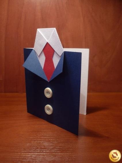 Открытки в виде рубашек с галстуками своими руками 714