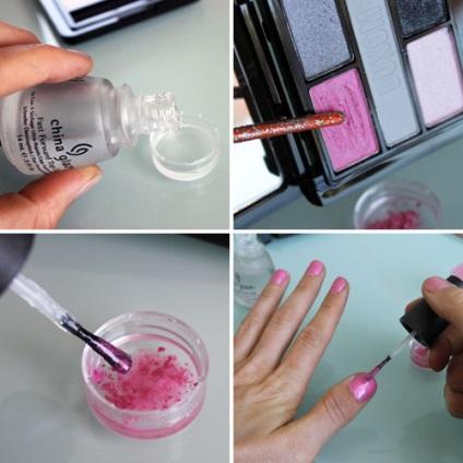Как сделать лак для ногтей в домашних условиях светящейся
