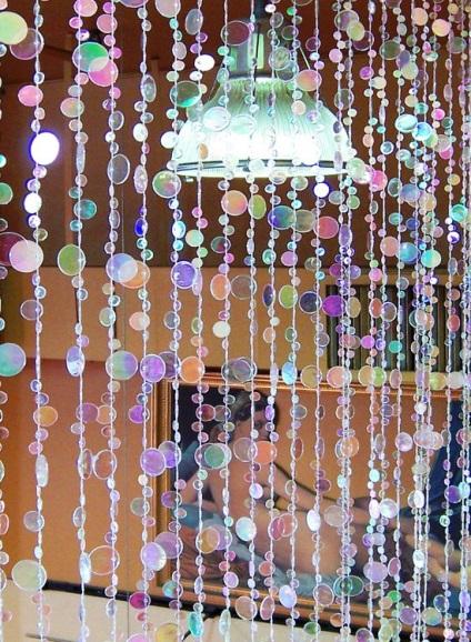 Декоративная штора из бусин своими руками 22