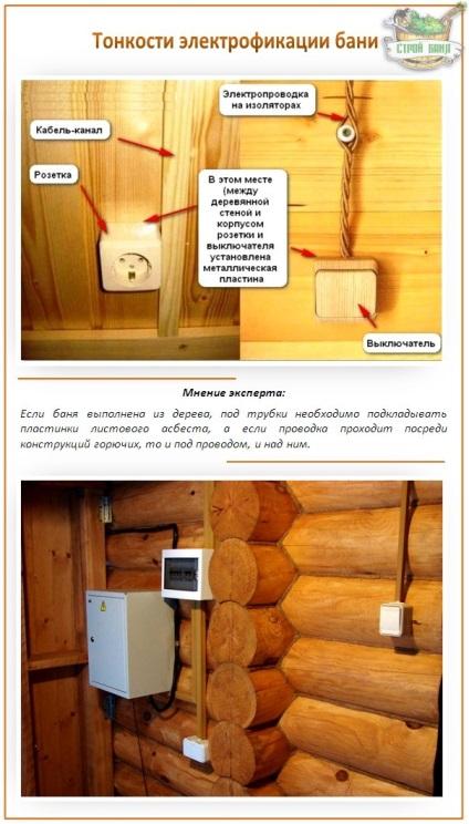 Как сделать электрику для бани 678