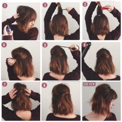 Легкие прически на волосы по плечо своими руками 111