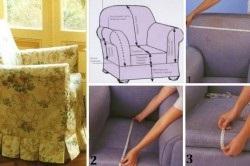 Как сшить чехлы для дивана с фото 779