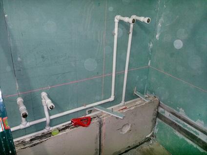 vízvezeték csövek a fürdőszobában, akkor a fürdő lefolyó
