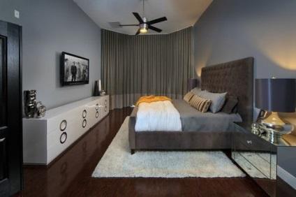 hálószoba a szürke árnyalataiban fotók enteriőrök és a tervezési