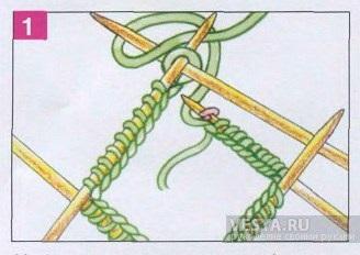 Как замыкать вязание в круг спицами 856