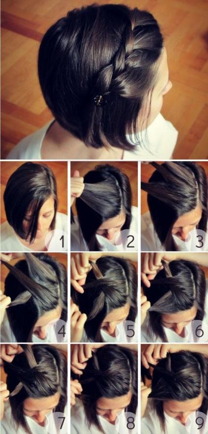 Прически на короткий волос красиво пошаговая инструкция