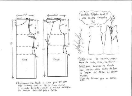 Как сделать выкройку платья для 54 размера 292