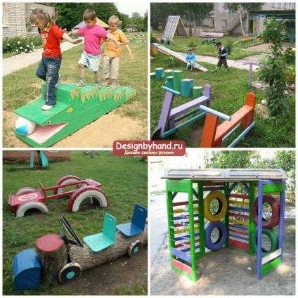 Идеи оформления детской площадки для детского сада своими руками 696