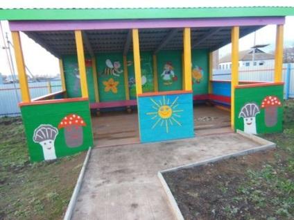 Детские сада беседки для детского сада своими руками 33