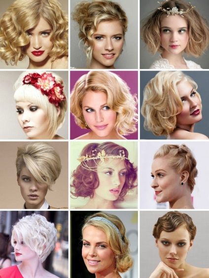 Зачіски на випускний на коротке волосся дівчаткам з фото