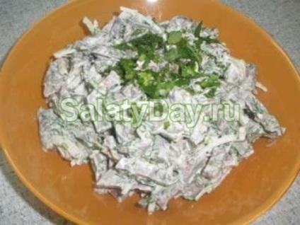Салат з серця рецепт з