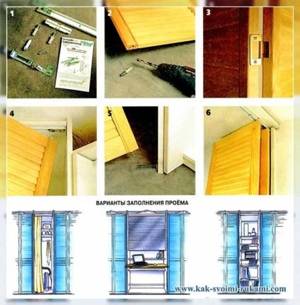 Как самой сделать дверь в шкаф