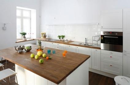 Цвет столешницы для серой кухни