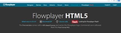 Telepítése és konfigurálása Flowplayer lejátszó
