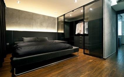 Stílusos férfi hálószoba a legjobb tervezők a világ
