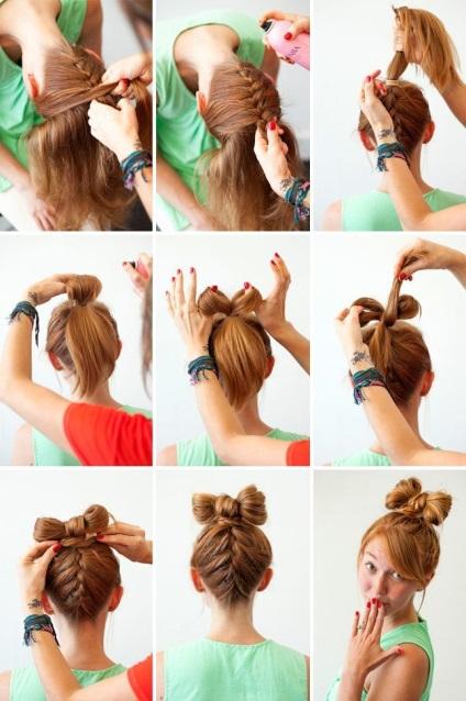 Как сделать бантик из длинного волоса 352
