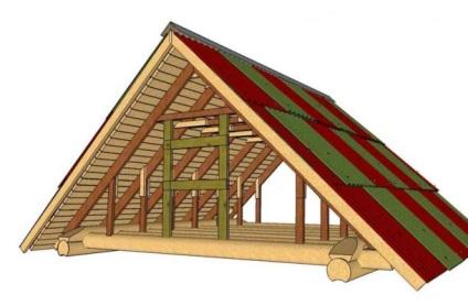 Фронтон в деревянном доме своими руками 37