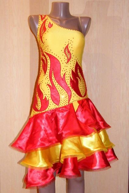 Как сшить костюм огня для девочки 24