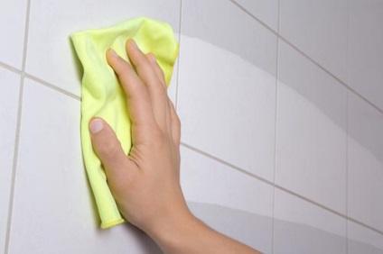 Zsíros csempe tisztítása