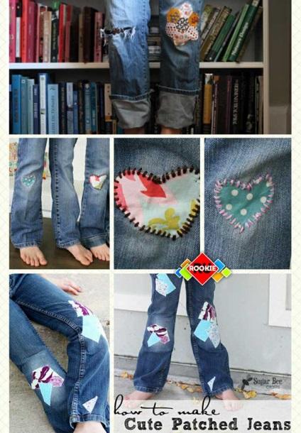 Декоративные заплатки на джинсы своими руками 51