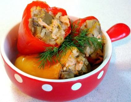 Перец фаршированный овощами фото