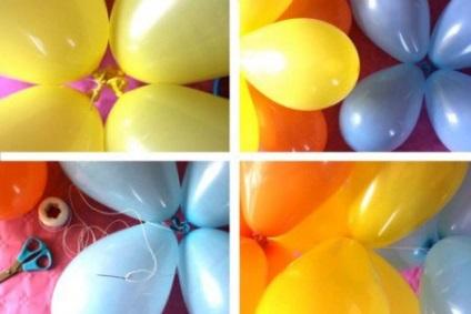 Инструкция как сделать гирлянды из шаров 348