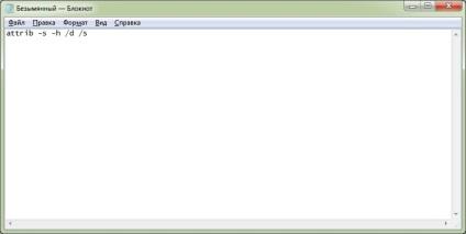 Létrehozása bat-file megjelenítéséhez a Rejtett fájlok és mappák, vebistory
