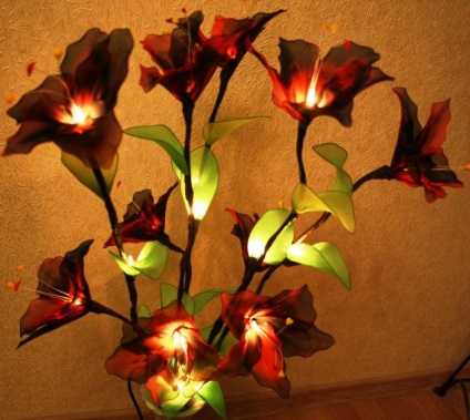 Цветы светильники из капронов