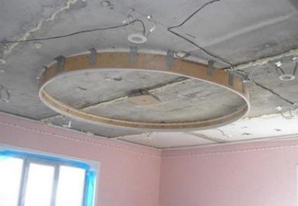 Как самим сделать двухуровневые потолки 241