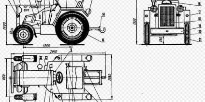 Минитрактор из мотоблока агро своими руками чертежи и размеры 89