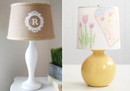 Лампа украсить своими руками