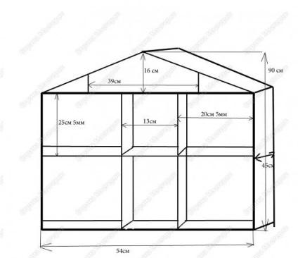 Дом для барби своими руками фото из картона схема размеры 21