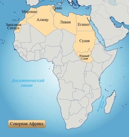 Eszak Afrika Eszak Afrikaban Az Afrikai Orszagok Terkep Afrika