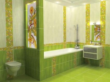 Cseréje csempe a fürdőszobában, fotó restaurálás és javítás