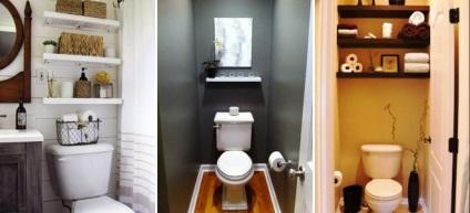 Полки в маленьком туалете своими руками 6